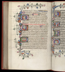 Historiated Initials, In The Prayerbook Of Duke Humfrey Of Gloucester f.74v